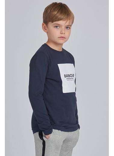 Barbour Block Logo T-Shirt Ny91 Navy Lacivert
